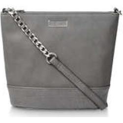 Carvela Rich Zip Top Chn Bckt Bag - Grey Bucket Bag found on Bargain Bro UK from Kurt Geiger UK