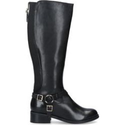 Womens Carvela Petrablack Leather Buckle Detail Knee Boots, 8 UK found on MODAPINS from Shoeaholics for USD $192.69