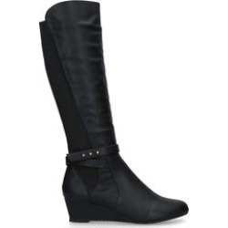 Carvela Comfort Timothy - Black Wedge Heel Knee Boots found on MODAPINS from Kurt Geiger UK for USD $124.65