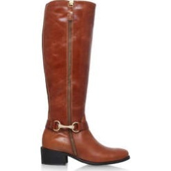 Carvela Waffle - Tan Low Heel Knee Boots found on MODAPINS from Kurt Geiger UK for USD $250.56