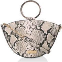 Carvela High Low Circle Handle Bag - Snake Print Cross Body Bag found on Bargain Bro UK from Kurt Geiger UK