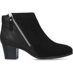 Carvela Comfort Rachel - Black Leather Block Heel Ankle Boots found on Bargain Bro UK from Kurt Geiger UK
