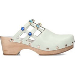 Womens Kurt Geiger London Oona Crystal Clogs, 5 UK, White found on MODAPINS from Shoeaholics for USD $205.01