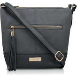 Carvela Betty Zip Top Tassel Bag - Grey Tassel Shoulder Bag found on Bargain Bro UK from Kurt Geiger UK