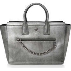 Womens Shoreditch Shopper Day Bags Kurt Geiger London Gunmetal Leather found on Bargain Bro UK from Shoeaholics