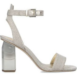 Michael Michael Kors Petra Ankle Strap - Gold Block Heel Sandals found on MODAPINS from Kurt Geiger UK for USD $169.08