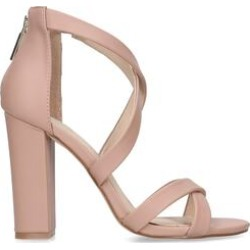 KG Kurt Geiger Faun2 - Blush Cross Strap Block Heel Sandals found on MODAPINS from Kurt Geiger UK for USD $109.27
