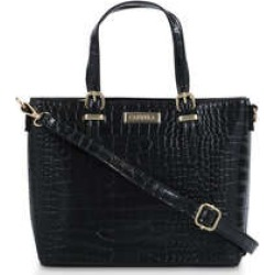 Womens Carvela Mini Hex Buckle Tote, No Size, Black found on Bargain Bro UK from Shoeaholics