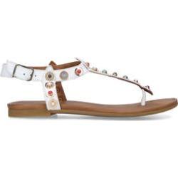Carvela Kankan - White Studded Flat Sandals found on Bargain Bro UK from Kurt Geiger UK