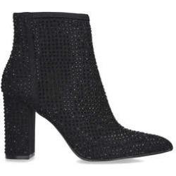 Carvela Shine - Black Embellished Block Heel Ankle Boots found on Bargain Bro UK from Kurt Geiger UK