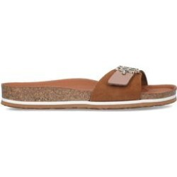 Womens Tommy Hilfiger Th Footbed Sndl, 7 UK, Tan found on Bargain Bro UK from Shoeaholics
