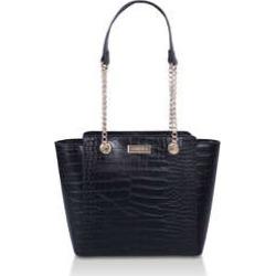 Womens Carvela Mini Deedeeblack Croc Mini Tote Bag, No Size found on Bargain Bro UK from Shoeaholics