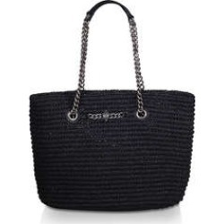 Womens Kurt Geiger London Chelsea Raffia Tote, Black found on Bargain Bro from Shoeaholics for £100