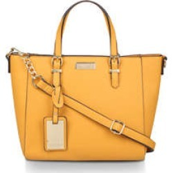 Carvela Fan Winged Tote - Mustard Yellow Tote Bag found on MODAPINS from Kurt Geiger UK for USD $58.88