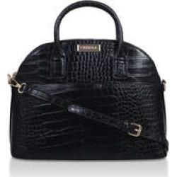 Womens Carvela Jen Kettle Toteblack Croc Tote Bag, No Size