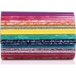 Kurt Geiger London Party Envelope - Rainbow Acrylic Clutch Bag found on Bargain Bro UK from Kurt Geiger UK