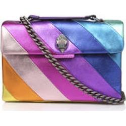 Kurt Geiger London Leather Kensington - Rainbow Stripe Leather Bag found on Bargain Bro UK from Kurt Geiger UK