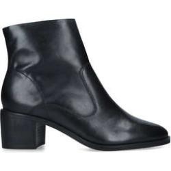 Carvela Ship - Black Leather Block Heel Ankle Boots found on Bargain Bro UK from Kurt Geiger UK