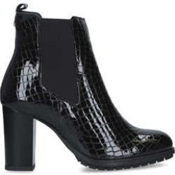 Womens Carvela Comfort Royalblack Patent Croc Print Ankle Boots, 4 UK found on Bargain Bro UK from Shoeaholics