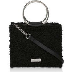 Carvela Flawless Circle Handle Tote - Black Woollen Bag With Ring Handle found on Bargain Bro UK from Kurt Geiger UK