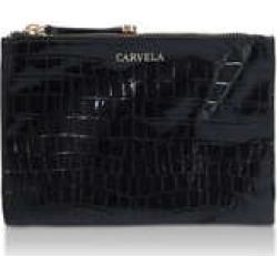 Carvela Jump Double Pouch Cross Body - Black Croc Cross Body Bag found on MODAPINS from Kurt Geiger UK for USD $67.87