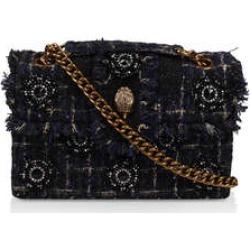 Kurt Geiger London Tweed Kensington - Dark Blue Embellished Tweed Shoulder Bag found on Bargain Bro UK from Kurt Geiger UK