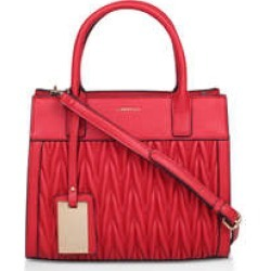 Womens Carvela Mini Megan Rouche Tote, Red found on Bargain Bro from Shoeaholics for £69