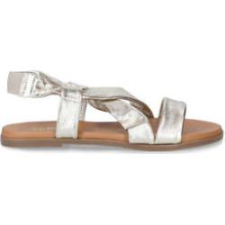 Aldo Galaradeb - Metallic Gold Cross Strap Flat Sandals found on Bargain Bro UK from Kurt Geiger UK
