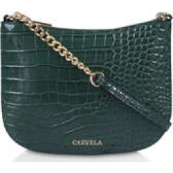 Womens Carvela Isla Cross Bodygreen Croc Cross Body Bag, No Size found on Bargain Bro UK from Shoeaholics