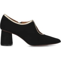 Chie Mihara Loreale - Black Suede Pointed Toe Court Shoes