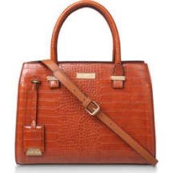 Carvela Holly Croc Zip Bag - Tan Croc Print Tote Bag found on Bargain Bro UK from Kurt Geiger UK