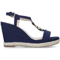 Nine West Glaze - Navy Patent Wedge Heel Sandals found on Bargain Bro UK from Kurt Geiger UK