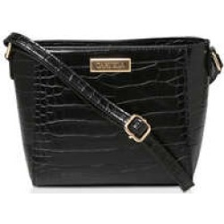 Carvela Donnie Small Cross Body - Black Croc Effect Cross Body Bag found on Bargain Bro UK from Kurt Geiger UK