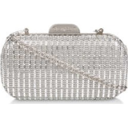 Carvela Gem2 - Silver Box Clutch Bag found on Bargain Bro UK from Kurt Geiger UK