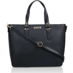 Womens Carvela Hex Buckle Detail Tote, No Size, Black found on Bargain Bro UK from Shoeaholics