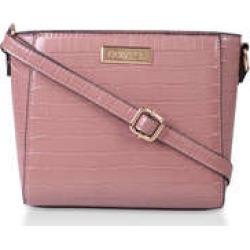 Carvela Donnie Small Cross Body - Pink Croc Effect Cross Body Bag found on Bargain Bro UK from Kurt Geiger UK