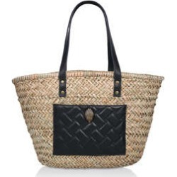 Kurt Geiger London Kensington Basket Shopper - Beige Eagle Embellished Shopper Bag found on Bargain Bro UK from Kurt Geiger UK