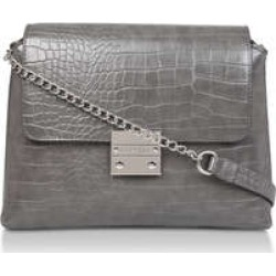 Carvela Blink Chain Handle Bag - Grey Croc Print Shoulder Bag found on Bargain Bro UK from Kurt Geiger UK
