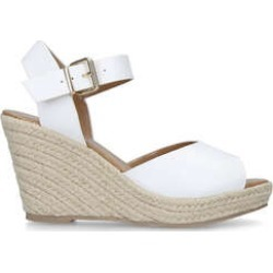 KG Kurt Geiger Paisley2 - White Espadrille Wedge Sandals found on MODAPINS from Kurt Geiger UK for USD $95.44