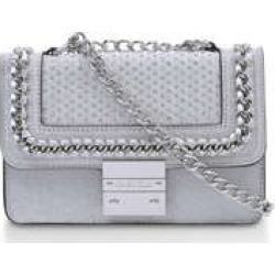 Carvela Mini Bailey Cross Body - Silver Glitter Mini Bag found on MODAPINS from Kurt Geiger UK for USD $81.72