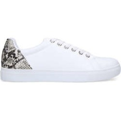 Womens Nine West Shadewhite Lace Up Trainers With Snake Print Heel, 6.5 UK, White Comb found on MODAPINS from Shoeaholics for USD $50.44