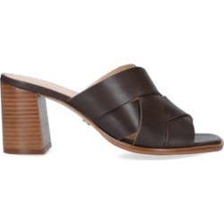 Carvela Glass - Brown Block Heel Mules found on MODAPINS from Kurt Geiger UK for USD $136.52