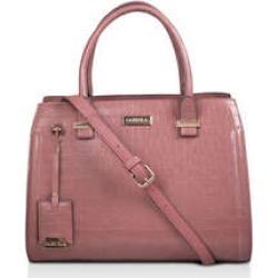 Carvela Holly Croc Zip Bag - Pink Croc Print Tote Bag found on Bargain Bro UK from Kurt Geiger UK