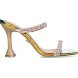 KG Kurt Geiger Foster - Metallic Embellished Fluted Heel Sandals found on MODAPINS from Kurt Geiger UK for USD $136.94