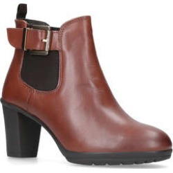 Carvela Comfort Rain - Tan Mid Heel Ankle Boots found on MODAPINS from Kurt Geiger UK for USD $74.97