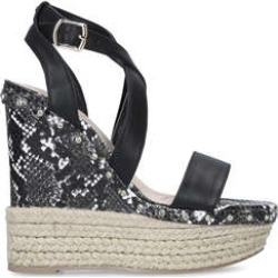 KG Kurt Geiger Raya - Black Snake Print Espadrille Wedge Heel Sandals found on Bargain Bro UK from Kurt Geiger UK
