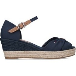 Womens Tommy Hilfiger Ot Mid Wedge, 4 UK, Navy found on Bargain Bro UK from Shoeaholics