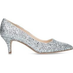 Womens Nine West Flagship 55Silver Glitter Kitten Heels, 7 UK found on MODAPINS from Shoeaholics for USD $54.32