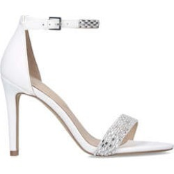 Aldo Prommy - White Embellished Stiletto Heel Strappy Sandals found on MODAPINS from Kurt Geiger UK for USD $43.33