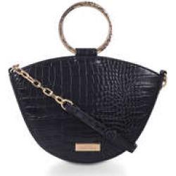 Carvela High Low Circle Handle Bag - Black Cross Body Bag found on Bargain Bro UK from Kurt Geiger UK
